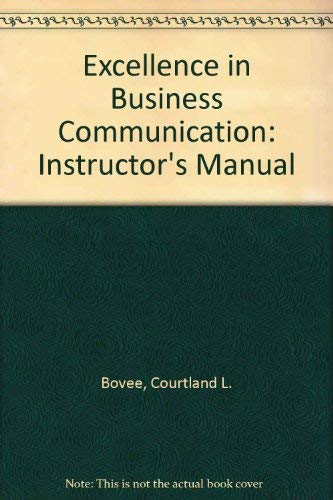 9780131419674: Excellence in Business Communication, 6th Edition, Instructor Manual