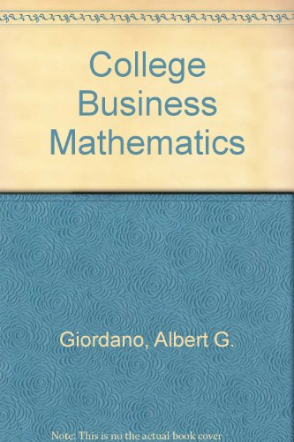 9780131420182: College Business Mathematics