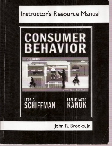 9780131420229: Consumer Behavior, Instructor's Resource Manual - Eighth Edition