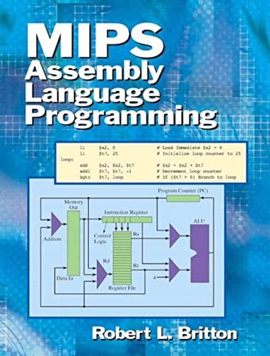 9780131420441: MIPS Assembly Language Programming