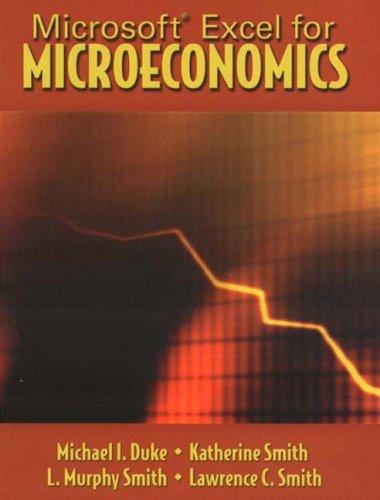 9780131421240: Microsoft Excel for Microeconomics