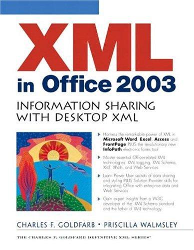 9780131421936: XML in Office 2003: Information Sharing with Desktop XML