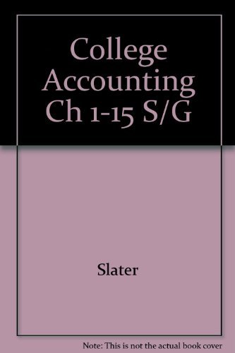 9780131423572: College Accounting Ch 1-15 S/G
