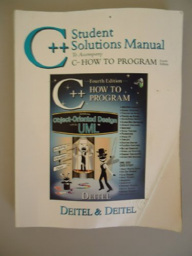 9780131425781: C++ Student Solutions Manual to Accompany C++ How to Program