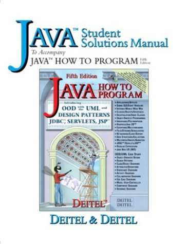 9780131425798: Java Student Solutions Manual to accompany Java How to Program (5th Edition)