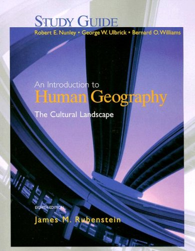 9780131429482: An Introduction to Human Geography Eighth Edition: The Cultural Landscape (Study Guide)