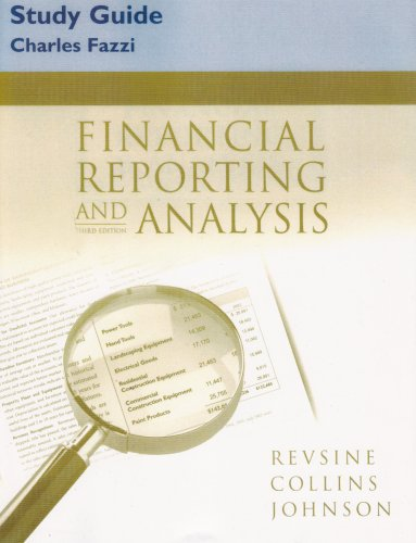 9780131430242: Financial Reporting and Analysis (Study Guide)