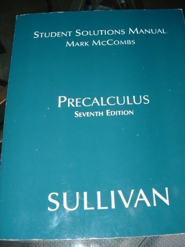 9780131431362: Precalculus: Students Solutions Manual