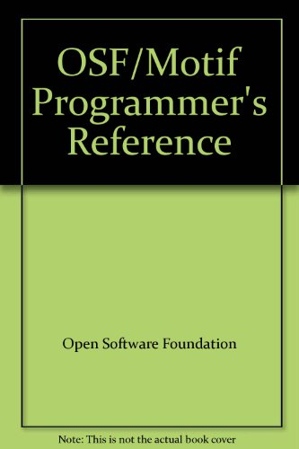 9780131431669: OSF/Motif Programmer's Reference