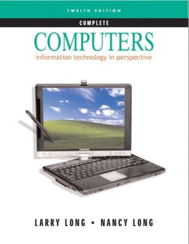Computers 9780131432352 Providing overview coverage of computing/IT concepts and applications, Computers meets the needs of contemporary IT knowledge in content, sequence, and depth of presentation. The material in this progressive edition reflects readers' interests and spans the world of information technology. It contains seven core chapters; plus an introduction to e-commerce, database management, and IT security; as well as emerging technologies such as artificial intelligence. Also included—three colorful IT Illustrated modules: computer history, the making of integrated circuits, and a PC buyer's guide. For a comprehensive introduction to computers.