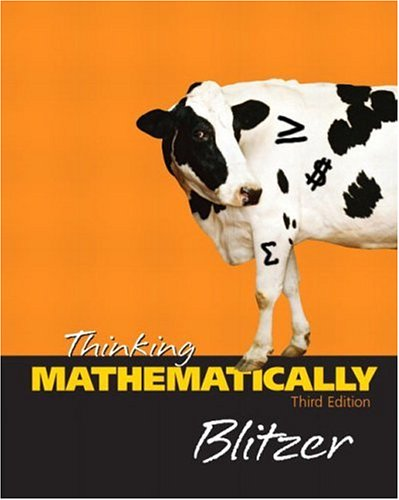 9780131432437: Thinking Mathematically