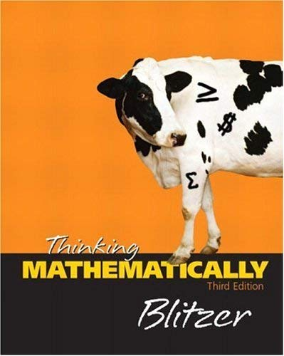 9780131432444: Thinking Mathematically