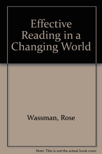 9780131432567: Effective Reading in a Changing World