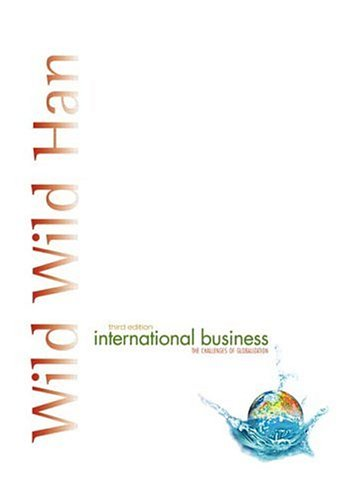 International Business (3rd Edition): Wild, John J.;