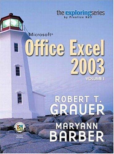 9780131434813: Exploring Microsoft Excel 2003 Volume 1