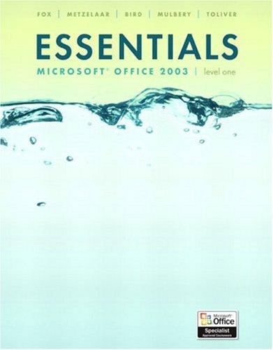 9780131435551: Essentials: Microsoft Excel 2003 Level 2 (4th Edition)