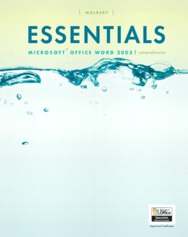 9780131435582: Essentials: Microsoft Word 2003 Comprehensive (4th Edition) (Essentials Series for Office 2003)