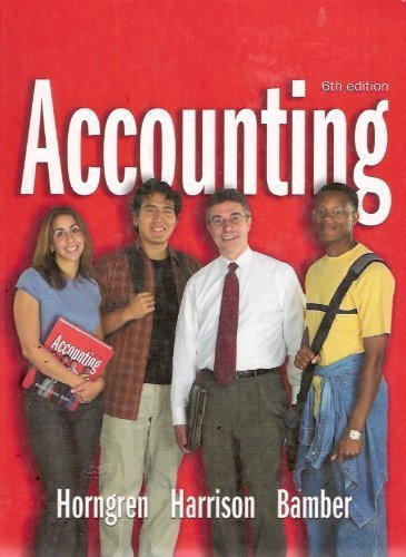 9780131435964: Accounting, 6th Edition, 1-26 (Charles T. Horngren Series in Accounting)