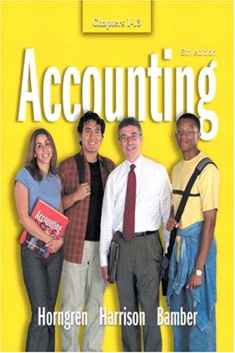 9780131436329: Accounting  Chapters 1-13 (6th Edition) (Ch. 1-13)
