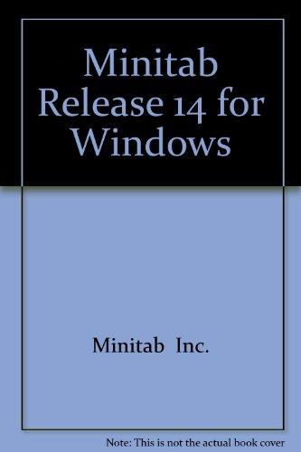 9780131436619: Minitab Release 14 for Windows