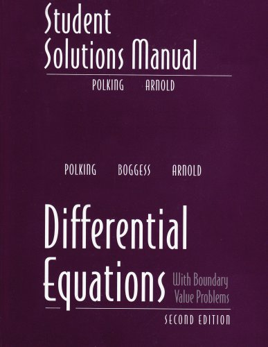 9780131437395: Student Solutions Manual for Differential Equations