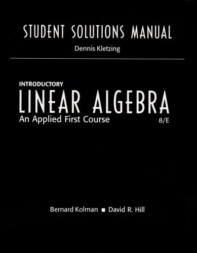 9780131437425: Student Solutions Manual for Introductory Linear Algebra: An Applied First Course