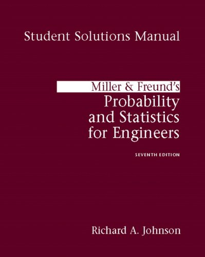 Student Solutions Manual for Miller & Freund's: Richard Johnson