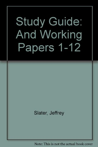 9780131439641: Study Guide: And Working Papers 1-12
