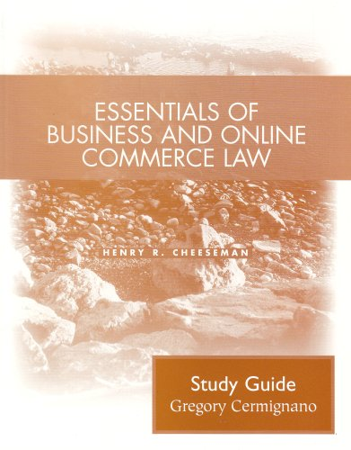 9780131440517: Essentials of Business and Online Commerce Law: Student Study Guide