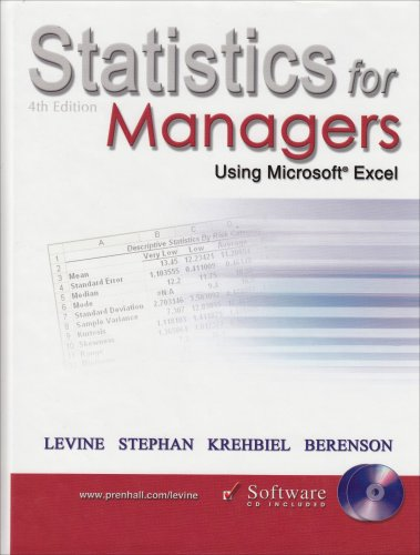 9780131440548: Statistics for Managers Using Microsoft Excel - 4th edition