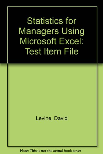 9780131440579: Statistics for Managers Using Microsoft Excel