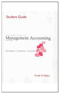 Introduction to Management Accounting (Student Guide): Charles T. Horngren