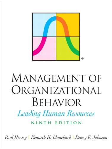 9780131441392: Management of Organizational Behavior: Leading Human Resources