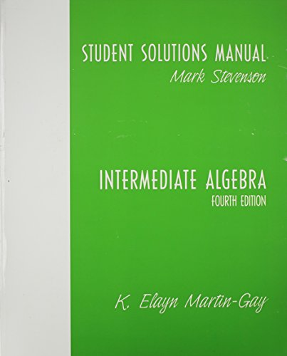 9780131444645: Student Solutions Manual-Standalone for Intermediate Algebra