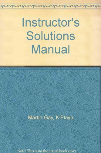 9780131444652: Instructor's Solutions Manual