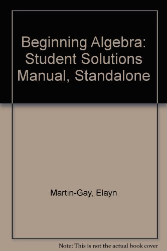9780131444928: Student Solutions Manual-Standalone for Beginning Algebra