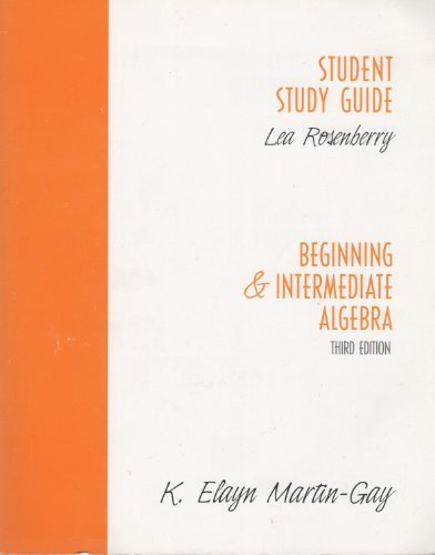 9780131445055: Beginning & Intermediate Algebra, 3rd edition (Student Study Guide)