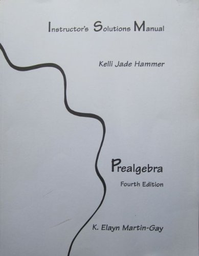 9780131445277: Instructor's Solutions Manual - Prealgebra Fourth Edition