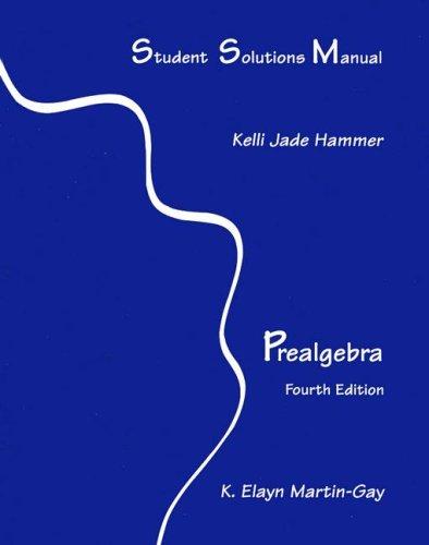 9780131445390: Student Solutions Manual Prealgebra