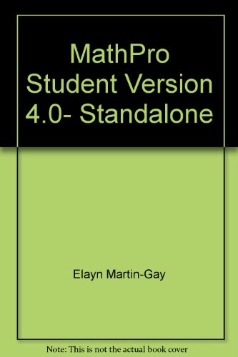 9780131445413: Supplement: Mathpro Student Version 4.0- Standalone - Prealgebra 4/E