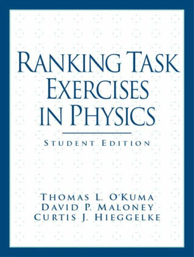 9780131448513: Ranking Task Exercises in Physics: Student Edition (Prentice Hall Series in Educational Innovation)