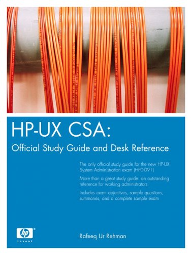 9780131448544: HP-UX CSA: Official Study Guide and Reference (HP Professional)
