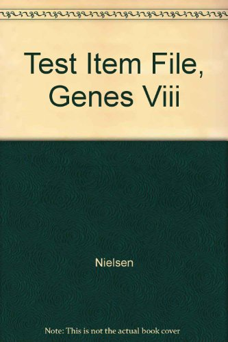 9780131449459: Test Item File, Genes Viii