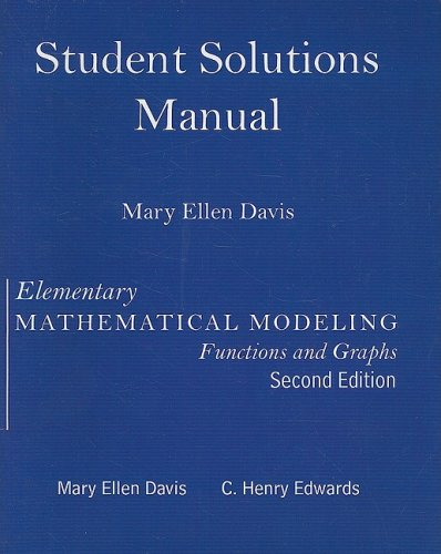 9780131450363: Student Solutions Manual for Elementary Math Modeling Updated
