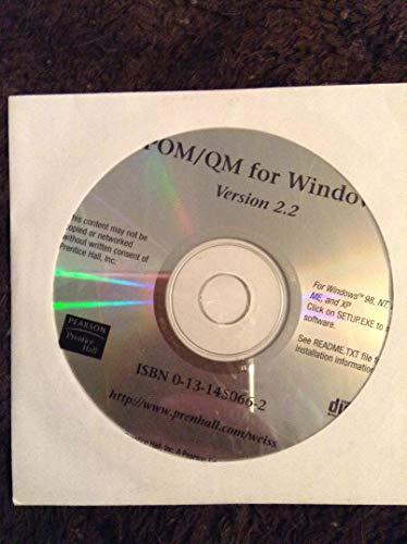 9780131450660: POM/QM for Windows
