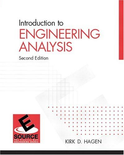 9780131453326: Introduction to Engineering Analysis (2nd Edition) (ESource Series)