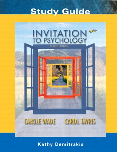 9780131455214: Invitation to Psychology: Study Guide