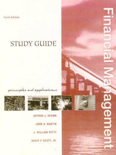 9780131456303: Financial Management: Study Guide: Principles and Applications