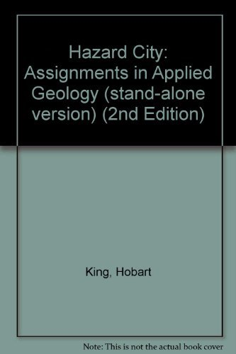 9780131456648: Hazard City: Assignments in Applied Geology (stand-alone version) (2nd Edition)