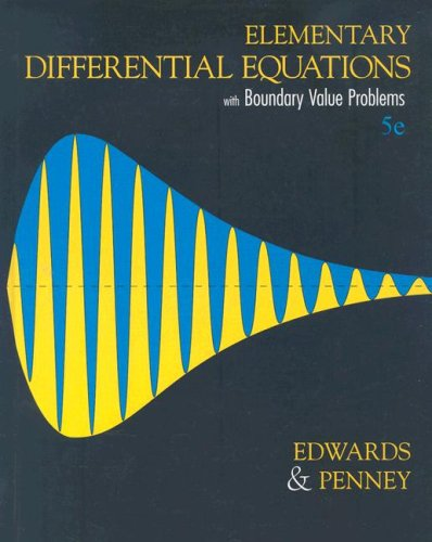 9780131457744: Elementary Diffential Equations with Boundary Value Problems: United States Edition
